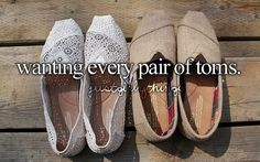 "I always think that!! Cause I wanna wear my toms but they don't go with my outfit so i'm like ""What do I do now???"""