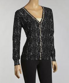 Take a look at this Black Heathered Cardigan by YAL on #zulily today! $25 !!