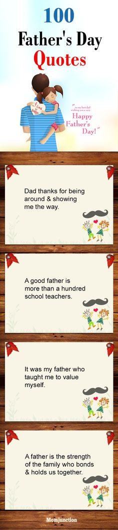 Fathers Day Quotes: Read on to find our Father's Day quotes compilation, all the way from one to one hundred! Here are the top 100 quotes on Father's Day that will stop your search right here Best Fathers Day Quotes, Fathers Day Poems, Happy Fathers Day Dad, Best Birthday Quotes, Daddy Day, Father Quotes, Fathers Day Cards, Dad Quotes From Son, Mother And Father