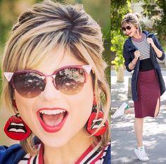 A #blogueira #Lu da novela Totalmente demais também com o Cat Eye da Fendi no #look de hoje. Super fashion com a dica das Óticas Wanny!! #visudalu #totalmentedemais #fendiiridia #oticaswanny #fendi #ootd #lookoftheday