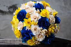 royal blue and gold bouquet - Google Search