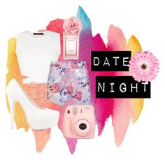 """DATE NIGHT"" by annieanne-tumblr13 ❤ liked on Polyvore featuring BCBGMAXAZRIA, Nly Shoes, Ally Fashion, Tommy Hilfiger, Polaroid, Alexis Bittar, NLY Accessories and DateNight"