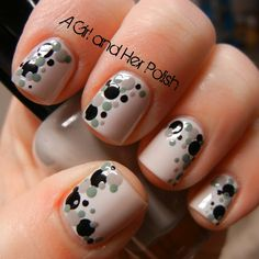 Polka dots nails short nail designs, nail art tools и classy Get Nails, Love Nails, Pretty Nails, Hair And Nails, Classy Nail Designs, Short Nail Designs, Nail Art Designs, Nails Design, Classy Nails