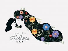 Happy mothers day lifting a daughter Pre. Mom Day, Graphic Design Tutorials, Happy Mothers Day, Adobe Illustrator, Vector Free, Daughter, Floral, Illustration, Flowers