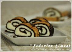 Rotolo al cacao con crema al mascarpone - La cucina di Federica