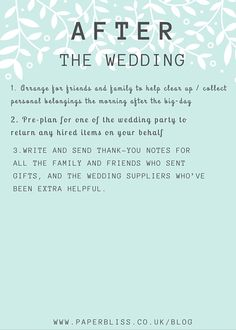 The Essential Planning Checklist Wedding Planning Checklist, The Essential, Thank You Notes, Essentials, Writing, How To Plan, Day, Sympathy Thank You Notes, Composition