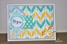Lucky 7: Happy World Card Making Day! Papertrey Ink, Irresistibly Ikat