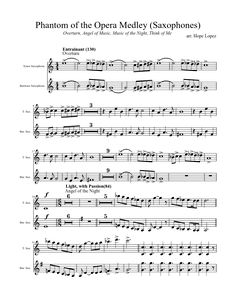 Sheet music made by Hope Lopez for 2 parts: Tenor Saxophone, Baritone Saxophone