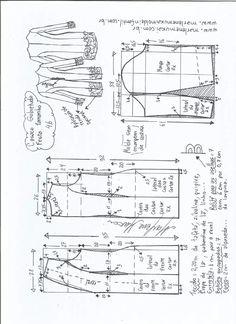 Esquema de modelagem de um sobretudo para compor look de festa que, dependendo do tecido, dá um caimento diferente. Modelagem do 36 ao 56.