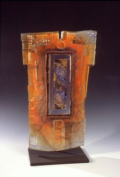 Mosaic Glass, Fused Glass, Glass Art, Melting Glass, Kiln Formed Glass, Wood Sculpture, Abstract Sculpture, Cast Glass, Shape And Form