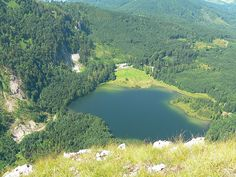 Laudachsee vom Katzenstein aus Austria, Spaces, Water, Outdoor, Vacation, Viajes, Gripe Water, Outdoors, Outdoor Games