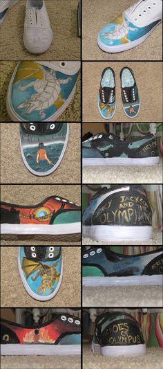 Percy Jackson Shoes by starflash08.deviantart.com on @deviantART...awesome
