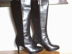 Ladies Clarks knee high boots  Lockwood Quest  black suede/leather size 6  £70.00