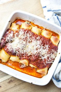 Cannelloni plněné ricottou s rajčatovou omáčkou