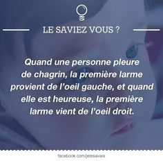Le saviez-vous? Some Quotes, Words Quotes, Real Facts, Fun Facts, Good To Know, Did You Know, Bad Mood, Life Is An Adventure, More Than Words