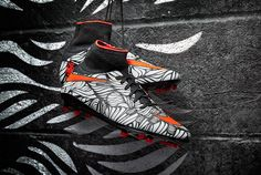 Nike HyperVenom Phantom II Neymar FG - Black/Bright Crimson/White