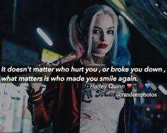 Harley quinn, suicide squad, and quotes image True Words, True Quotes, Best Quotes, Qoutes, Movies Quotes, Joker Und Harley Quinn, Harely Quinn, Joker Quotes, Badass Quotes
