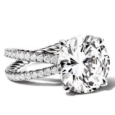 Love this diamond engagement ring by David Yurman. Hidden inside the band is a distinctive cable design for which David is most famous.