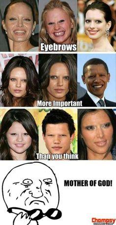 mother ofunny photos god funny eyebrows
