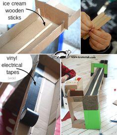 Писта от плоските картонени кутии на ИКЕА