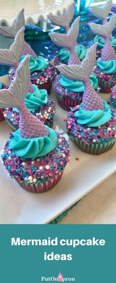 Best cupcakes I've ever made! By me!You can find Little mermaid parties and more on our website. Best cupcakes I've ever made! By me! Fun Cupcakes, Cupcake Cakes, Mermaid Cupcake Cake, Little Mermaid Cupcakes, Mermaid Tail Cake, Cupcakes Design, Birthday Cake Cupcakes, Lol Birthday Cake, Birthday Cupcakes For Women
