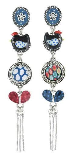 Boucles d'oreilles TARATATA. Bijoux créateurs. En vente en boutique et sur notre site internet : http://www.bijouterie-influences.com/search.php?search_query=taratata+pour+toujours