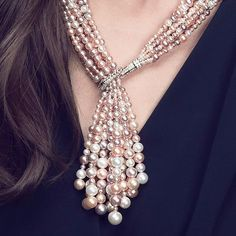 Pearls are always appreciated 😁 Tassel Jewelry, Pearl Jewelry, Diamond Jewelry, Antique Jewelry, Beaded Jewelry, Jewelry Necklaces, Beaded Necklace, Beaded Bracelets, Jewellery