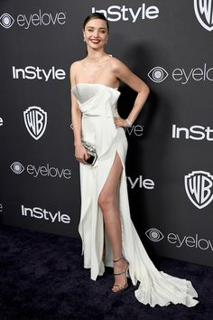 Miranda Kerr at The 2017 InStyle and Warner Bros. 73rd Annual Golden Awards Post-Party.