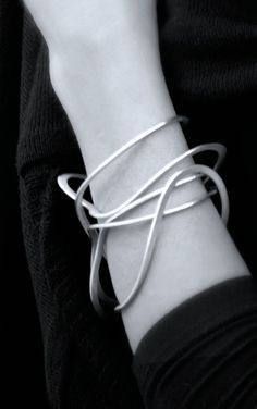 Liliana Guerreiro | Squiggle Bangle - elegant simplicity; chic statement jewellery