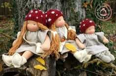 Children of the Forest Dolls are inspired by Elsa Beskows Book. The larger dolls have very exclusive hand spun and plant dyed hair and . Elsa Beskow, Children Of The Forest, Doll Toys, Dolls, Waldorf Toys, Hand Spinning, Knecht Ruprecht, Dyed Hair, Age