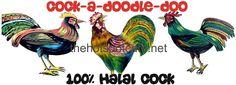 Cocka-Doodle Doo Tin Sign