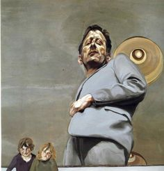 Lucian Freud Reflection with Two Children (Self-Portrait) 1965 Oil on canvas. 91 x 91 cm Museo Thyssen-Bornemisza, Madrid Lucian Freud Portraits, Lucian Freud Paintings, Sigmund Freud, Figure Painting, Painting & Drawing, Self Portrait Artists, Antoine Bourdelle, Pompidou Paris, Art Sculpture