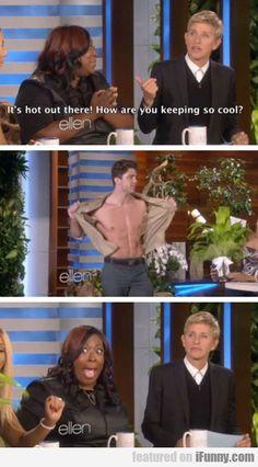 Ellen's face. xD