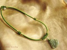 $35.99 Live in Joy Buddha Amulet Green Jade Unique Necklace - Fortune Jade Jewelry by Fortune Jewelry & Healing Beauty, http://www.amazon.com/dp/B00B8XBDS6/ref=cm_sw_r_pi_dp_K7tLrb0KHHWM2