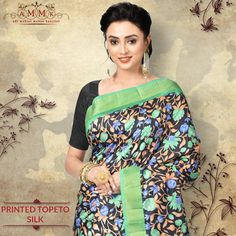 Buy exclusive printed Topeto at an exclusive price from Cod Free, Silk Sarees Online, Sari, Printed, Collection, Fashion, Saree, Moda, Fashion Styles