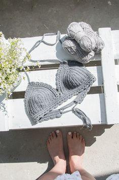 Romantic crochet bralete. #crochet #bralette #top
