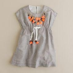 Girls' razzle tassel dress