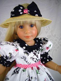 """Dress fits Kidz n Cats. Sonja Hartmann, 18', 19"""" slim doll. LittleCharmersDoll #18SlimDollKidznCats"""