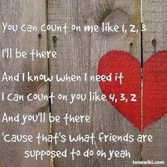 Count on me~ Bruno Mars. I am in love with this song right now.