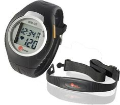 The EKHO WM-25 Heart Rate Monitor allows users to target a heart rate zone and compare continuous heart rate, average heart rate, and maximum heart rate with that target.