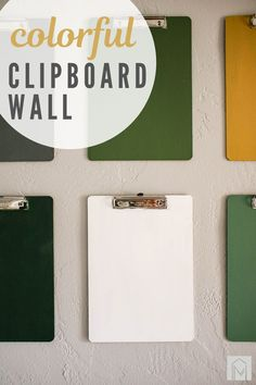Looking for a creative way to decorate your walls? Learn how to hang clipboards on the wall and make a colorful clipboard wall! #wall #clipboards #clipboard #walldecor Hanging Kids Art, Kids Art Galleries, Clipboard Wall, Displaying Kids Artwork, Foam Paint Brush, Cottage Style Decor, Acrylic Craft Paint, Clipboards, Cute Signs