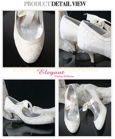 modest round toe ivory lace wedding shoes with straps low heel bridal shoes Converse Wedding Shoes, Wedge Wedding Shoes, Lace Bridal Shoes, Bride Shoes, Bridal Wedges, Low Heel Shoes, Wedge Shoes, Vintage Shoes, Retro Vintage