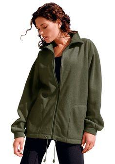 Collection L. Fleece-Jacke mit gesteppten Ziernähten ab 29,99€. Fleece-Jacke mit Antipilling-Ausrüstung, Polyester, Lässig-weite Form, Reißverschluss bei OTTO