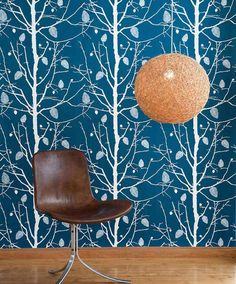 For the TV wall - Ferm Living Shop — Family Tree Wallpaper - Blue Family Tree Wallpaper, Tree Wallpaper Blue, B&w Wallpaper, Ferm Living Wallpaper, Eclectic Wallpaper, Botanical Wallpaper, Contemporary Wallpaper, Striped Wallpaper, Bedroom Wallpaper