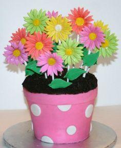 pinterest flower pots | Flower Pot Cake