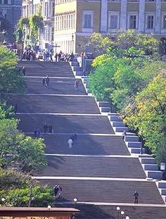 Odessa, Ukraine -- The Potemkin Steps. Made famous in Sergei Eisenstein's film about the Russian Revolution of 1905.