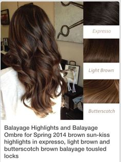 Balayage color