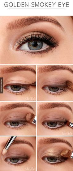 The golden Smoky eye is the perfect neutral way to do Eyeshadow for anti aging makeup
