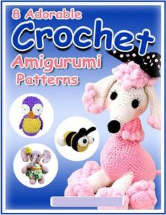 8 Adorable Crochet Amigurumi Patterns - Crochet outside of your comfort zone and make some cute little characters. Amigurumi animals can be made for kids or adults! Crochet Food, All Free Crochet, Crochet Patterns Amigurumi, Cute Crochet, Crochet Dolls, Crochet Mignon, Crochet Animal Hats, Yarn Crafts, Crochet Projects