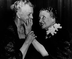 Lady power! A fun photo of Eleanor Roosevelt and Helen Keller. // When you shop the Women's Causes section, 7% of proceeds go to The Athena Network.